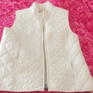 Cream Quilted Nylon Vest
